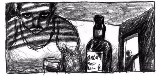 El padre padre de Axel en estado depresivo